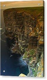 Acrylic Print featuring the photograph Marwick Head Orkney Scotland by Gabor Pozsgai