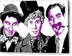 Marx Brothers Acrylic Print by DB Artist