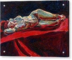 Mary - Nude - Again Acrylic Print by Piotr Antonow