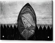 Mary Altar Cloth Acrylic Print by Jeanette O'Toole