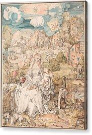 Mary Among A Multitude Of Animals Acrylic Print