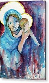 Mary And Baby Jesus Acrylic Print by Mary DuCharme