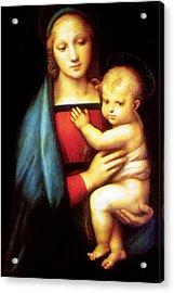 Mary And Baby Jesus Acrylic Print by Munir Alawi