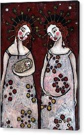 Mary And Elizabeth 2 Acrylic Print by Julie-ann Bowden