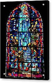 Mary And The Paratroopers Acrylic Print by Frank Wickham