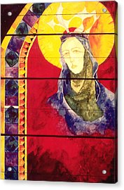 Mary Acrylic Print by Erika Brown