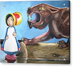Mary Had A Little Panther Acrylic Print