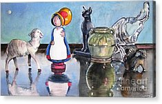 Mary Had Many Little Things Acrylic Print