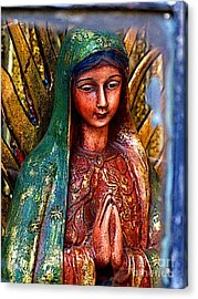 Mary In Repose Acrylic Print by Mexicolors Art Photography