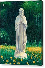 Acrylic Print featuring the painting Mary by Joe Winkler