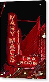 Mary Macs Resturant Atlanta Acrylic Print by Corky Willis Atlanta Photography