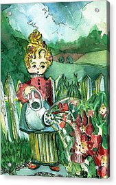 Mary Mary Quite Contrary Acrylic Print by Mindy Newman