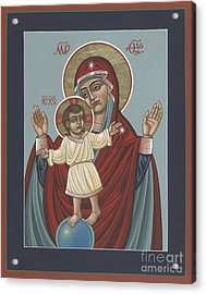 Acrylic Print featuring the painting Mary, Mother Of Mercy - Dedicated To Pope Francis In This Year Of Mercy 289 by William Hart McNichols