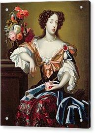 Mary Of Modena  Acrylic Print by Simon Peeterz Verelst
