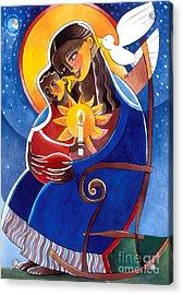Mary, Seat Of Wisdom - Mmwis Acrylic Print