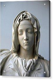 Acrylic Print featuring the sculpture Mary by Suhas Tavkar