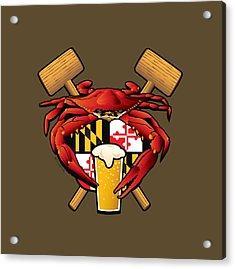Maryland Crab Feast Crest Acrylic Print