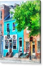 Maryland - Neighborhood Pub Fells Point Md Acrylic Print by Susan Savad