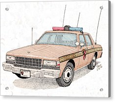 Maryland State Police Car Acrylic Print by Calvert Koerber