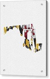 Maryland Typographic Map Flag Acrylic Print
