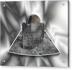 Mary's Death's Head In 3d Acrylic Print
