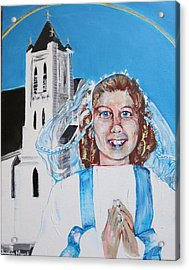 Mary's First Communion Acrylic Print
