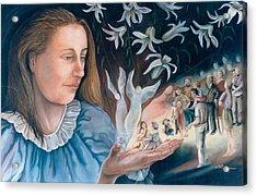 Mary's Hands - Les Mains De Marie Acrylic Print