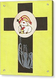 Marys Of The Lamb Acrylic Print by Danielle Tayabas