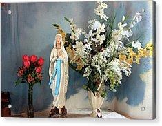 Mary's Roses Acrylic Print