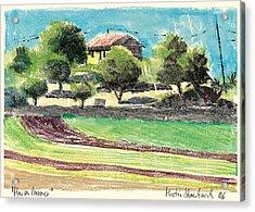 mas en Provence landscape Acrylic Print by Martin Stankewitz