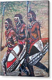 Blue Cat Productions        Masaai Warriors Acrylic Print