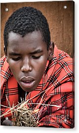 Acrylic Print featuring the photograph Masai Firemaker by Karen Lewis