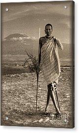 Masai Kilimanjaro Acrylic Print