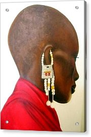 Masai Woman - Original Artwork Acrylic Print