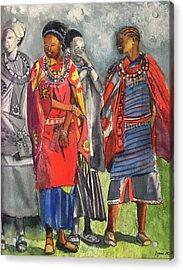 Masai Women Acrylic Print