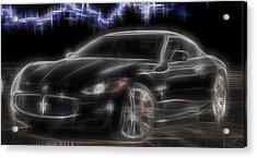 Maserati Acrylic Print by Kenneth Armand Johnson