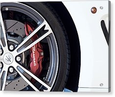Maserati Wheel White Acrylic Print
