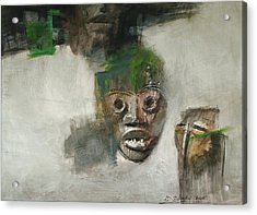 Symbol Mask Painting - 06 Acrylic Print