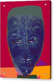 Mask 10 Acrylic Print by Noredin Morgan