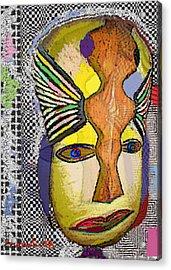 Mask 13 Acrylic Print by Noredin Morgan