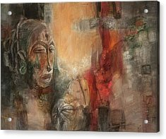 Symbol Mask Painting - 08 Acrylic Print