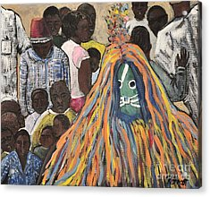 Mask Ceremony Burkina Faso Acrylic Print by Reb Frost