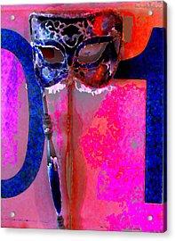 Mask Acrylic Print by Danielle Stephenson