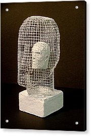 Mask Acrylic Print by Gary Kaemmer