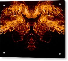 Mask Of Fire Acrylic Print by Val Black Russian Tourchin