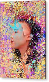 Mask Of Impressionism Acrylic Print by Matthew Lacey