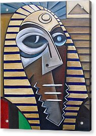 Mask Of The Enigmatic Acrylic Print by Martel Chapman