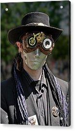 Masked Man - Steampunk Acrylic Print