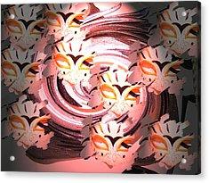 Masks Acrylic Print by Judy Arline  Puckett