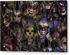 Masks New Orleans Acrylic Print by Garry Gay